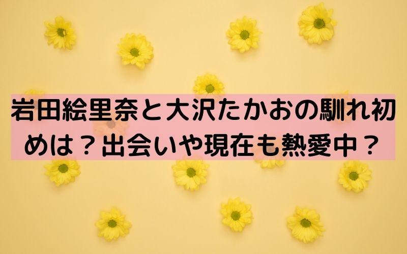 岩田絵里奈 大沢たかお 馴れ初め