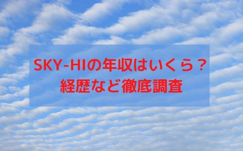 SKY-HI 年収